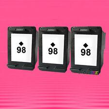 3 Non-OEM Alternative Ink Cartridge for HP 98 Black C4110 8050
