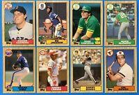 (8) 1987 Topps Baseball Card Lot Bonds RC McGwire RC Clemens Ryan Bo Jackson RC