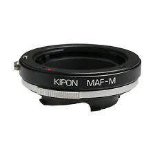Kipon Adapter for Minolta AF/Sony Alpha Lens to Live view Leica M Typ 240 Camera
