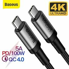 Baseus USB 3.1 Type C to C 10Gbp HDMI Adapter Cable 100W Fast Charge for MacBook