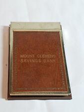 Vintage MOUNT CLEMENS SAVINGS BANK Note Pad Holder Desk Phone Michigan