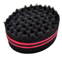 Red Smart Locking Afro Curl Twist Dreads Coil Wave Barber Hair Brush Sponge