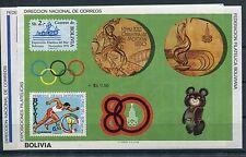 Bolivien Block 100/01 postfrisch / Olympiade .............................1/1380