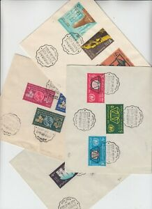 EGYPT 1963/65 4x official FDCs with PORT SAID first day of issue cd un-address
