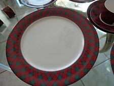 Arita TARTAN PLAID Chop Plate Platter Perfect