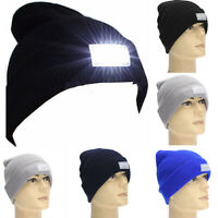 5-LED Light Cap Beanie Hat with 2 Batteries for Hunting Camping Fishing Running