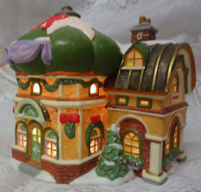 Vintage Dept 56 Christmas North Pole Beauty Shoppe Night Light Village House