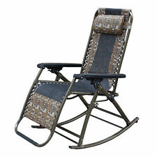 Portable Folding Bed Chair Rocking Leisure Camping Outdoor Multi Purpose vee
