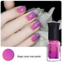 6ml Thermal Color Changing Nail Art Polish Peel Off Varnish Purple to Pink