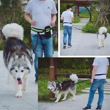 Adjustable Hands Free Running Walking Jogging Pet Dog Waist Leash Traction Rope