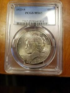 PCGS 1923 S Peace Dollar MS65 $1 MS 65