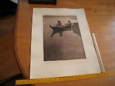 Edward S Curtis Photogravure 18x22.5 Tweedweave Vancouver Island Plate 391