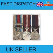 NEW OSM AFGHANISTAN - DIAMOND JUBILEE - RAF LSGC COURT MOUNTED MINIATURE MEDALS