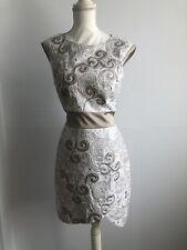 Karen Millen Cream/ Gold Summer Dress Size 12