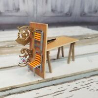 dept 56 wooden bench work sign chairs table flags village holiday xmas