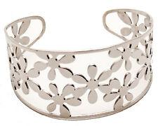 Women' Stainless Steel1.45'' wide Adjustable Lace Culf Bracelet Fashan Bangle