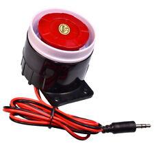 Mini Sirène 120dB Klaxon 12V pour Maison Bureau Magasin Sécurité Système Alarme
