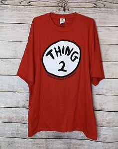 Mens Thing 2 Dr Suess Red Universal Islands Of Adventure Shirt Size 2XL