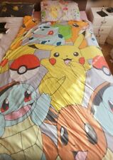 Pokemon Pikachu Single Reversible Duvet Cover and pillow case Bedding Set