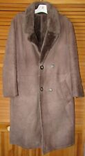 VINTAGE  NICE TAUPE SHEARLING MEN FUR COAT  SAWYER CANADA  SZ M ( CHEST 46)