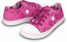 Crocs Girls' Argyle Hover Sneak Sneakers, Fuchsia/ Bubblegum, C12 Size C 12, NWT
