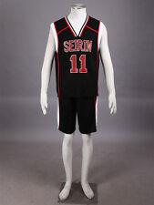 Kuroko no basuke Cosplay Seirin Kuroko Tetsuya #11 Basketball Jersey 2nd Black