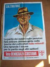 manifesto COLTIVATORI DIRETTI COLDIRETTI per la DEMOCRAZIA CRISTIANO (1976)