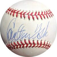 Carlton Fisk Signed American League OAL Budig Baseball Red Sox Auto PSA/DNA
