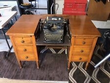 Antique Hide-Away Flip Top Solid Oak desk with Original Royal typewriter.