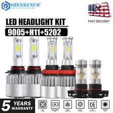 6X H11 9005 Hi/Lo LED Headlight+5202 Fog Lights For Chevrolet Colorado 2015-2018