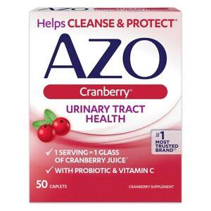 AZO Cranberry Urinary Tract Health 500mg & probiotic,50 Caplets - No1 - Original