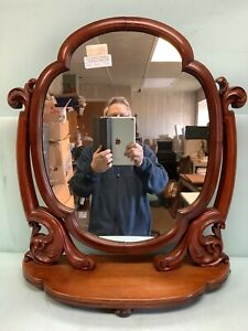 "Walnut Freestanding Dresser Mirror 28"" High"