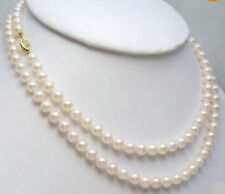 GENUINE 8-9MM AKOYA AAA+++ WHITE NATURAL PEARL NECKLACE 36 INCH 14K GOLD