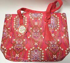 Sahara Sunset Large Handbag Tote Shopper Beach Bag Pink Floral Paisley NWTs