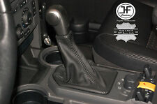 BLACK MANUAL REAL LEATHER GEAR GAITER FITS LANDROVER DISCOVERY 3 2004-2009