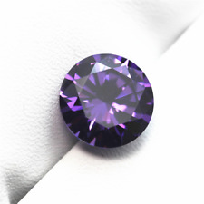 Huge Dazzling Round *Tanzanite* Loose Gemstone 6.12 Carats 10mm Violet/Blue AAAA