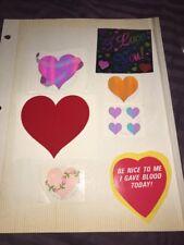 Lot 15 Vintage Mrs. Grossman's Hearts Love Sandylion I love You! Gave Blood