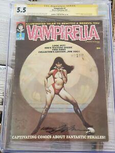 Vampirella 1 1969 CGC SS 5.5 Signed Adams And Royer  1st App Vampirella