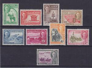 GOLD COAST 1948, SG 135-145 (NO 10S), MNH**