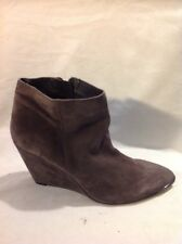 Cara Brown Ankle Suede Boots Size 41
