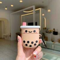 Cartoon Milk Tea Cup Silicone TPU Earphone Case For AirPods Cover Y3N9