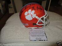 William Perry signed Clemson Tigers Schutt mini helmet inscribed Fridge Schwartz