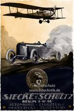 Siecke and Schultz Berlin PLANE CAR ACCESSORIES POSTER Brown BECK MOTOR a1 099