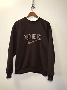 VINTAGE NIKE SWEATSHIRT SPELL OUT EMBROIDERED BIG LOGO SIZE L