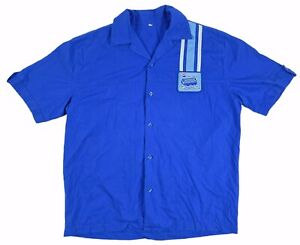 Rare Pepsi Blue Shirt Soft Drink Mens Large Top Promotional Button Up