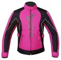Warrior Ladies Motorcycle Waterproof Breathable CE Armour Cordura Textile Jacket