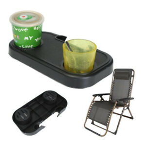 Zero Gravity Recliner Sun Lounger Chair Tray Side Clip Table Cup Holder Outdoor