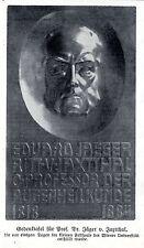 Lapide commemorativa per il prof. cacciatori V. jaxtthal Vienna Università occhi scienza medica 1910