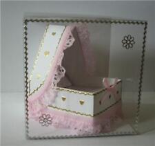 3D papel de regalo de recuerdo bebé cuna Drapeado plantilla de tarjeta