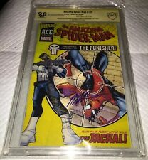 Amazing Spider-Man #129 1st Punisher 2002 Ace CBCS 9.8 SS SIGNED JOHN ROMITA SR